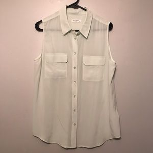 Equipment Button Down Tank Top Large